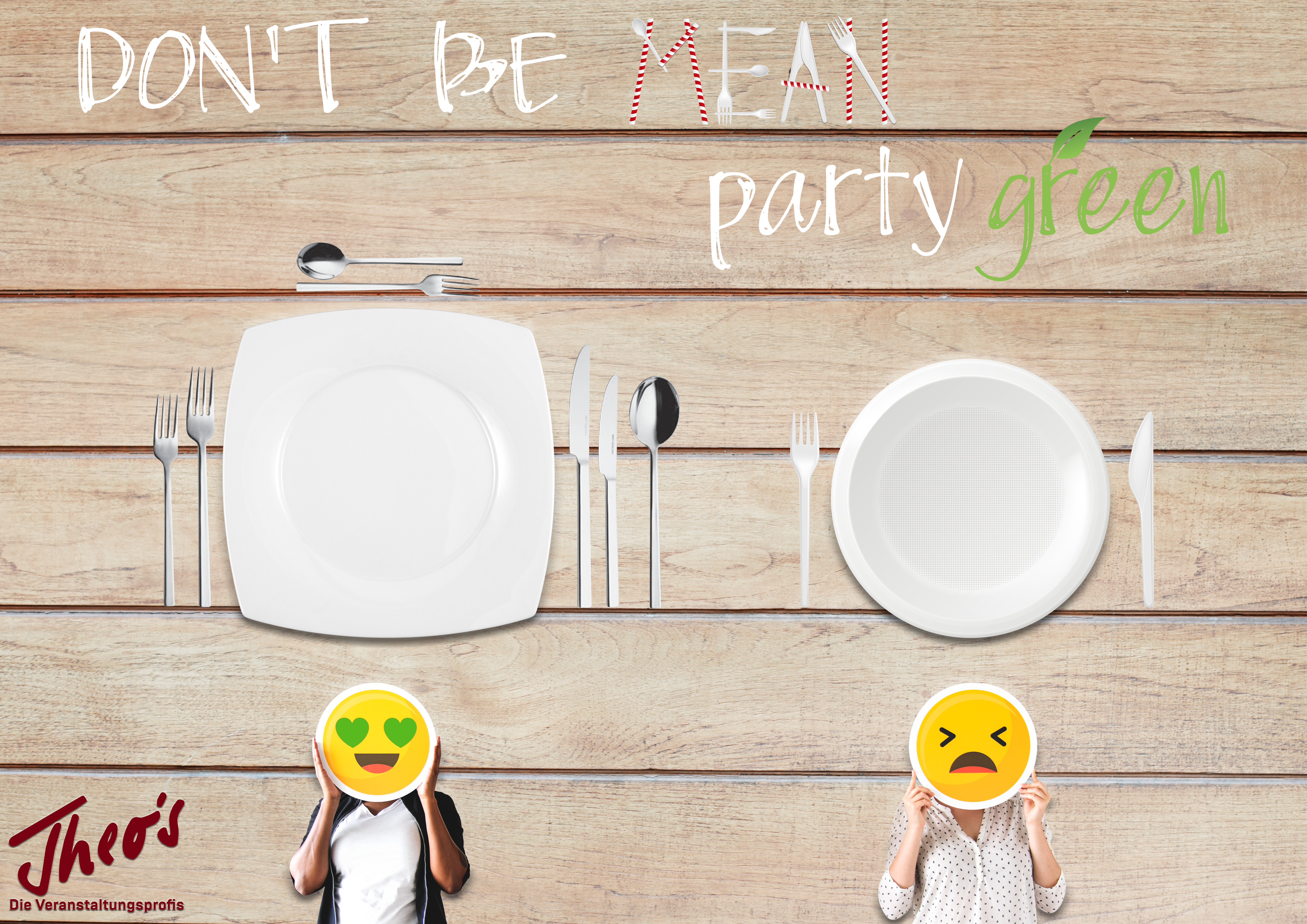 Don't be mean – party green! post thumbnail